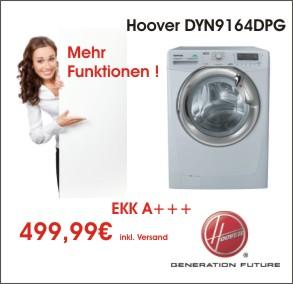 hoover waschmaschine dyn 9164 dpg a 9 kg 1600 touren ebay. Black Bedroom Furniture Sets. Home Design Ideas
