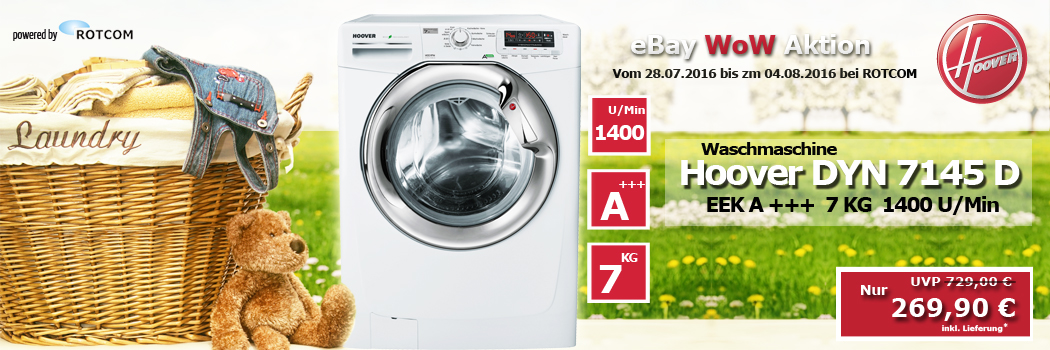 hoover dyn 7145 d waschmaschine a 7kg 1400 touren 8016361845169 ebay. Black Bedroom Furniture Sets. Home Design Ideas