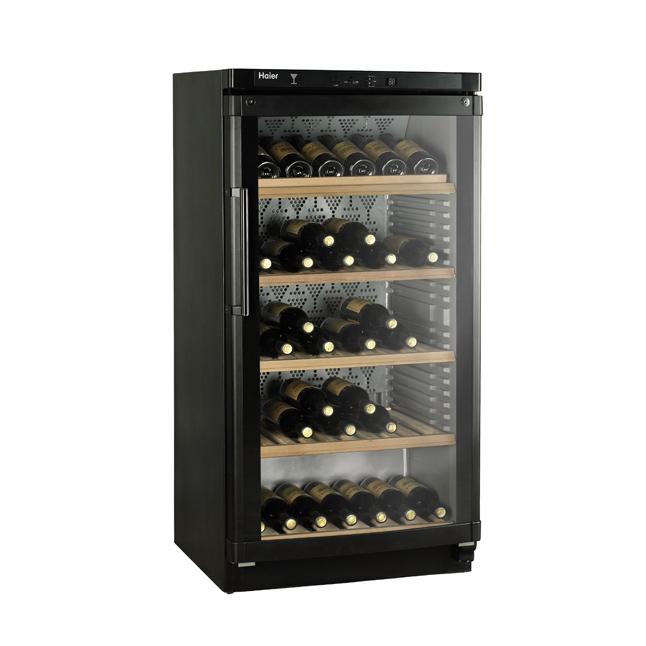 haier jc 298ga weink hlschrank 120 flaschen schwarz eek a. Black Bedroom Furniture Sets. Home Design Ideas