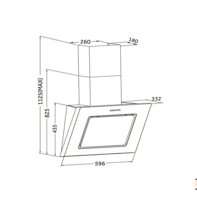 pkm 9031s edelstahl mit schwarzem glas dunstabzugshaube randabsaugung eek e 60cm ebay. Black Bedroom Furniture Sets. Home Design Ideas