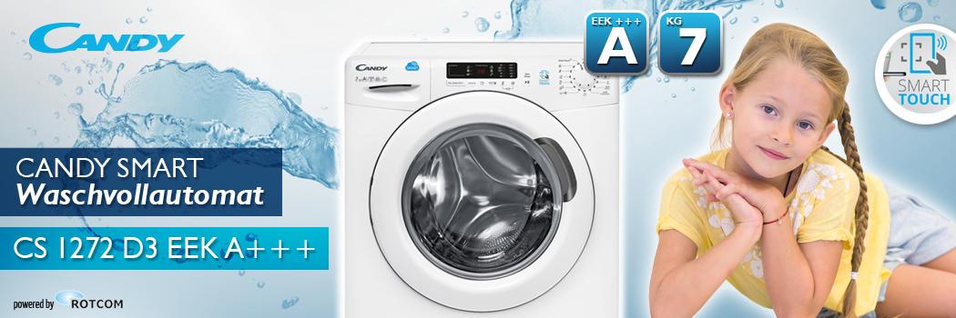 candy smart waschmaschine cs1272 d3 eek a f llmenge 7 kg ebay. Black Bedroom Furniture Sets. Home Design Ideas
