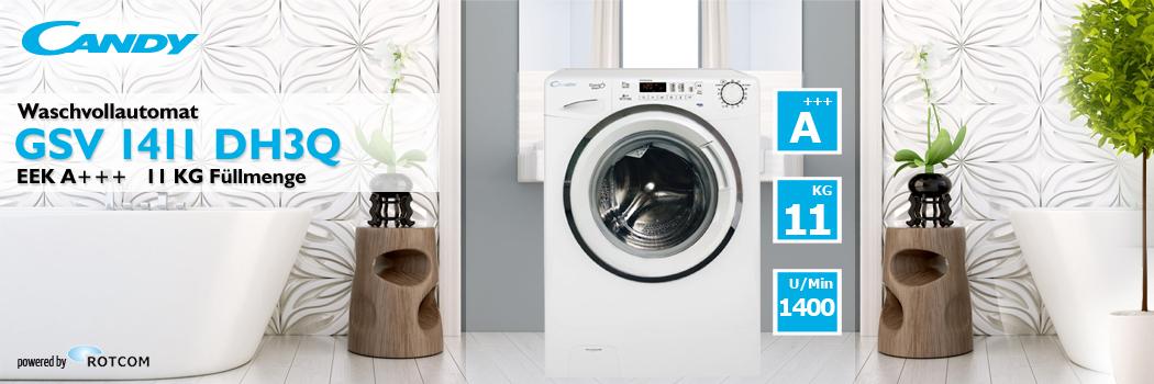 candy waschmaschine gsv 1411 dh3q eek a 11 kg f llmenge frontlader ebay. Black Bedroom Furniture Sets. Home Design Ideas