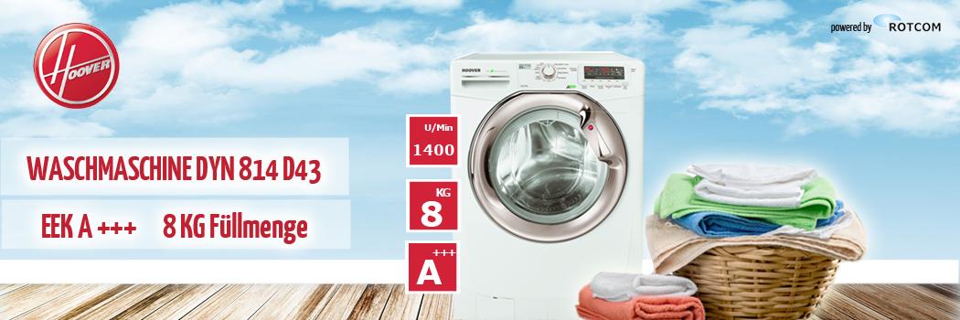 hoover dyn 814 d 43 waschmaschine eek a frontlader 8 kg 1400 u min ebay. Black Bedroom Furniture Sets. Home Design Ideas