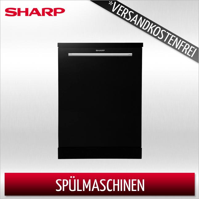 Sharp QW-GT34F463I-DE freistehend 60cm Edelstahl Geschirrspüler Spüler A++