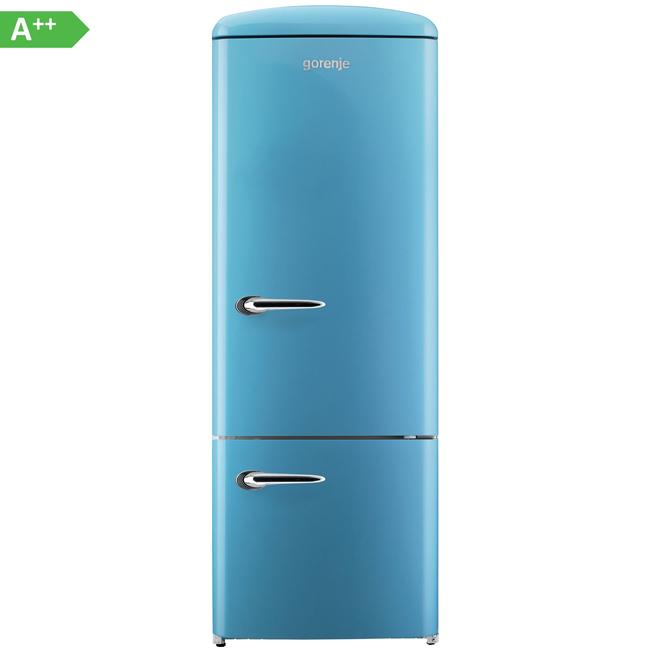 gorenje rk60319obl k hl gefrierkombination eek a k hlschrank baby blue ebay. Black Bedroom Furniture Sets. Home Design Ideas
