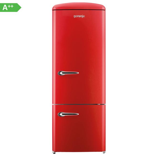 gorenje rk60319ord k hl gefrierkombination eek a k hlschrank fire red ebay. Black Bedroom Furniture Sets. Home Design Ideas